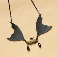 $4.00 Vintage Bat Mask Pendant Sweater Chain Necklace For Women  (For my favorite holiday!!!)
