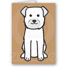 Border Terrier Dog Breed Cartoon Greeting Card