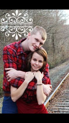 Maggie Nicholson Photography Engagement Couple Railroad