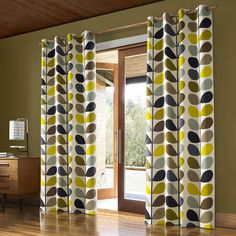 Orla Kiely Multi Stem Eyelet Curtains - Duck Egg - 229x274cm (245 AUD) ❤ liked on Polyvore featuring home, home decor, window treatments, curtains, multi, orla kiely curtains, leaf pattern curtains, orla kiely, eyelet curtains and lining curtains