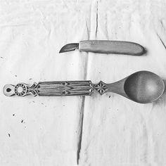 Wooden Spoons, Wood Carvings, Utensils, Wood Carving, Shun Cutlery, Flatware, Woodcarving, Carving Wood, Wood Engraving