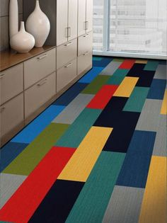 Planks carpet tile collection by Interface