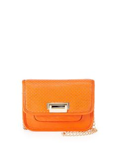 Cati+Perforated+Flap+Crossbody+Bag,+Orange+by+Neiman+Marcus+at+Neiman+Marcus+Last+Call.