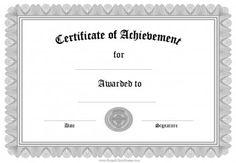 Certificate Of Achievement Template Certificate Of Achievement Office Templates Free Printable Certificates Of Achievement Formal Award Certificate