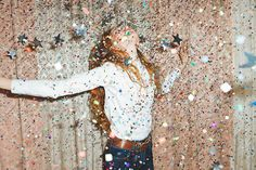 Add confetti glitter, or anything that sparkles into pinata. Hopefully this will be the result.