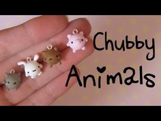 Chubby Kawaii Animals Tutorial: Kitties, Bunny & Pig - Fimo Polymer Clay Charms