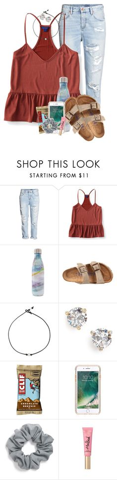 """""""Schools been so busy!!"""" by mgally29 ❤ liked on Polyvore featuring H&M, Aéropostale, S'well, Birkenstock, Kate Spade, Griffin and Natasha"""