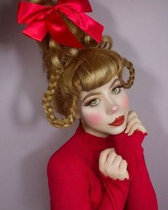 christmas costumes cindy lou CINDY LOU WHO twiggybraindead Grinch Halloween, Grinch Christmas Party, Christmas Hair, Halloween Makeup, Holiday Hair, Whoville Costumes, Whoville Hair, Seussical Costumes, Cindy Lou Who Hair