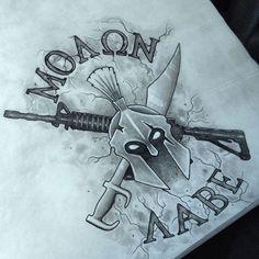 Molon labe tattoo idea: