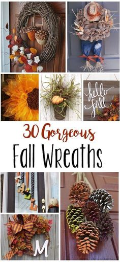 These gorgeous fall wreaths have me giddy for autumn!