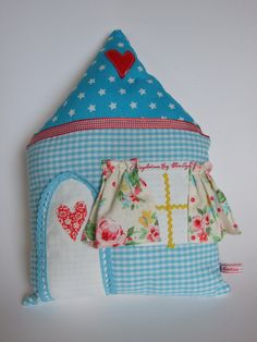 House Softie Pillow Summer Cottage by KatieClairesCottage on Etsy, €19.00