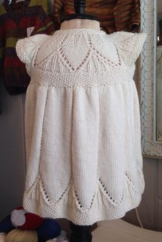Clara Dress knit in Debbie Bliss Baby Cashmerino/pattern Isager yarns