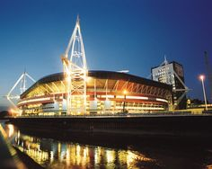 The Millennium Stadium is the national stadium of Wales, located in the capital city, Cardiff. It is the home of the Wales national rugby union team and has also staged games of the Wales national football team. Wales National Football Team, National Stadium, Rugby Union Teams, Millennium Stadium, Wales Rugby, Saint David's Day, Celtic Nations, Cardiff Wales, Best Settings