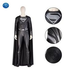 Black Superman Costume
