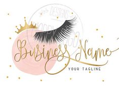 DIGITAL Custom logo design , lashes logo, crown lash beauty logo, makeup logo, gold pink lashes logo, gold pink beauty logo, design lashes