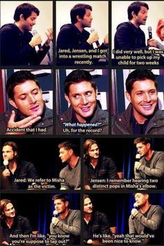 The cast of Supernatural needs a spin off-a show of all their off screen shenanigans lol