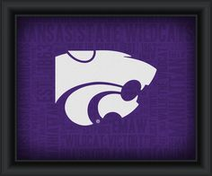"Kansas State University ""College Logo Plus Word Clouds"" - 15 x 18 Framed Print"
