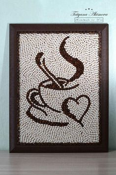 Creative Diy Ideas For Pebble Art Crafts! - Do It Yourself Samples Crafts To Do, Arts And Crafts, Diy Crafts, Adult Crafts, Button Art, Button Crafts, Coffee Bean Art, Seed Art, Art Pierre