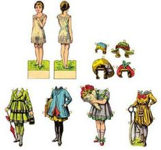 Classic paper doll templates set1