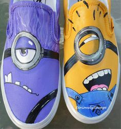 If not in the store, they are available upon request.  Just drop me a note at Etsy.  Despicable Me 2  Good VS Evil Minion. Custom by seriouslysavage, $99.00