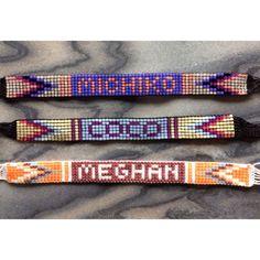 Custom Word/Name Bead Loom Friendship Bracelet