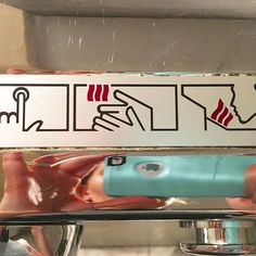 Press button • Receive bacon • Eat bacon 🥓  #bacon #infographic #icons #illustration #handdryer  #graphicdesign #bathroomart #whatiswiththeface?