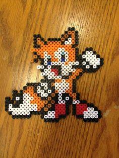 Sonic Tails hama perler beads