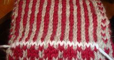..såhär gör jag hälarna på mina sockor.    Markerarvart hälen ska sitta genom att sticka in en tråd i avvikande färg. Det blir liksom ett... Atlantis, Ravelry, Knitting, Crochet, Life, Chrochet, Tricot, Cast On Knitting, Crocheting