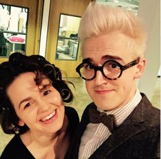 Giovanna and Tom getting ready for a event.