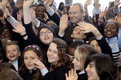 En una visita al Colegio San Antonio Benageber