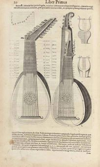 Marin Mersenne, Harmonie Universelle planche avec a luth et a theorbe