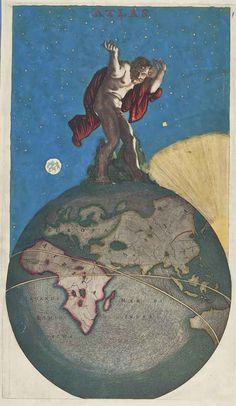 "WIT, Frederick de (1610-1698). Frontispiece of ""Atlas."" Amsterdam, ca 1670 or later.  Engraved frontispiece of ""Atlas"