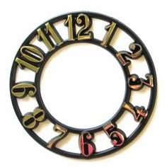 "This time ring is approximately 1/8"" thick and comes with an adhesive backing for easy application (use a bit of white glue to assure strong adhesion). It is gold hot stamped over a black background. Eecommend using BR4 Brass 2 1/2"" Spade Clock Hands with this clock dial."