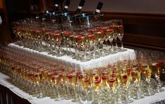Looking to celebrate that little bit more - we can also do Champagne Toasts. Champagne Toast, Great Recipes, Canning, Food, Meal, Essen, Hoods, Home Canning, Meals