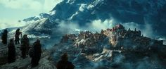 the City of Dale is now the Desolation of Smaug. when it was being destroyed, Smaug had set the town ablaze and leveled it like it was nothing.