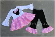 Custom Boutique Clothing Light  Pink  Minnie by LilBugsClothing, $55.00