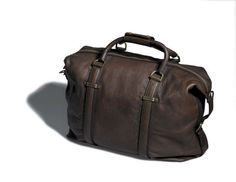 Leather overnight bag, $449, by Trenery. | Man bags | Pinterest