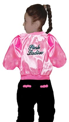 Pink Ladies Satin Jacket in Kid's Sizes CHEAP!! - Nostalgiaville USA