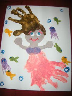 kids hand print craft #DIY #thedoodlebug www.doodlebugarts.com