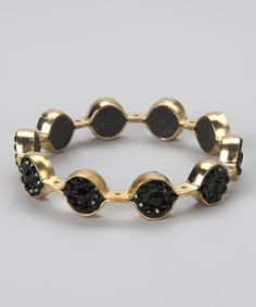 Take a look at this Black & Gold Marquis Bangle by In Things on #zulily today!