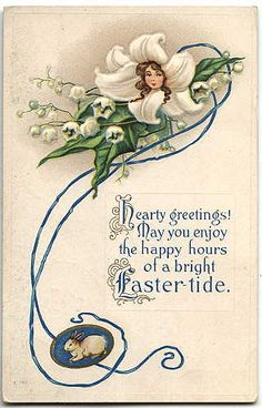 Goodbye, House. Hello, Home! Blog : Antique Postcards :: Happy Easter to You!