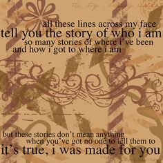 Brandi Carlile - The Story - This song is amazing. I haven't really listened to much else by her, but I love The Story.