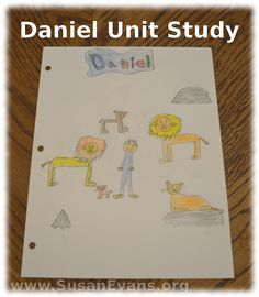 Free Daniel Unit Study (includes videos, crafts, and hands-on activities) - http://susanevans.org/blog/daniel-unit-study/