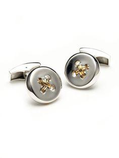These cufflinks are for s̶p̶e̶c̶i̶a̶l̶ occasions: Tateossian Silver Button