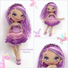 Фиолетовое настроение ! Куколка Фиалочка #коллажоляки Красуется, танцует, выглядывает  на вас смотрит #кукольнаялабораторияоля_ка #olyaka_lab