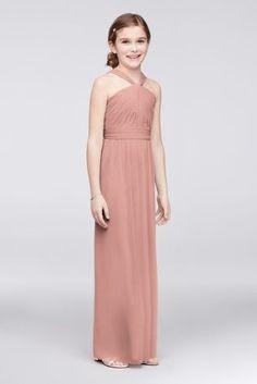da27bba4636 Y-Neck Long Mesh Girls Dress Style JB9597