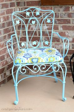 Don't toss out your rusty patio furniture! I'll show you how to make it beautiful again.