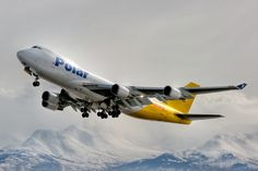 Photo of a Polar Air Cargo Boeing 747-400 at Anchorage, Alaska (Airport Codes ANC / PANC). The airplane registration is N452PA