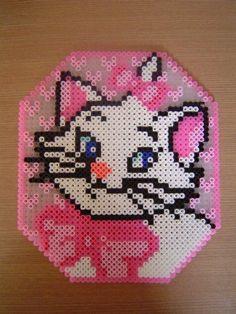 Marie - Aristocats perler beads
