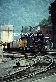 C&O, Thurmond, West Virginia, 1982 Railroad Photography, Art Photography, Abandoned Places, Locomotive, West Virginia, Bridges, Ohio, Journey, Cars
